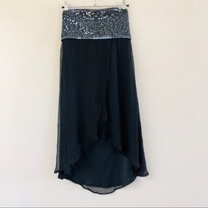 MARCIANO black beaded chiffon dress